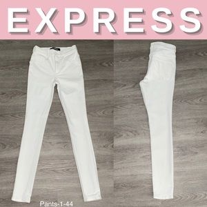 NEW Express White High Rise Stretch+ Leggings; 00R